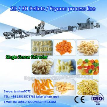 Automatic 3d 2d pellet /waved chips process plant from  machinery
