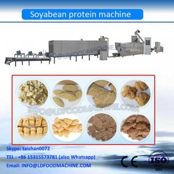 Double Screw Extrusion Defatted soybean flakes protein meat chunks food production line/making machines equipment