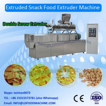 Crunch frying extrusion pellets puffing snacks food 3d 2d papad fryum pani puri making extruder equipment machine