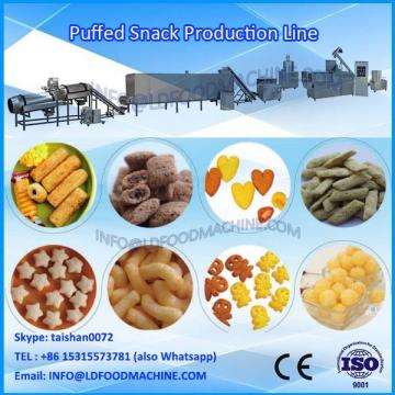 Full automatic high efficiency twin screw extruder puff snaks food production line