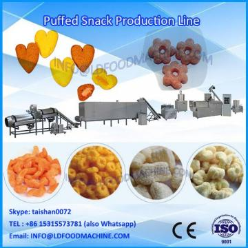 corn puff snacks food production line/extruded corn puff snack processing line