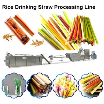 Industrial Biodegradable Edible Rice Tapioca Drinking Straw Maker Making Machine